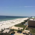 7th floor suite view of the beach