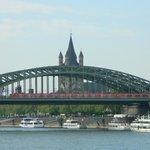Hohenzollern Bridge and St.Martin