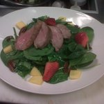 DUCK ON SPINACH SALAD