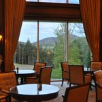Sitting area and dining with a view from the lobby
