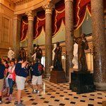 Magnificent room with Statues