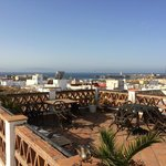 View from roof terrace to Morocco