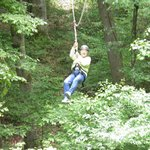Mom (71yrs old) loved Zip lining!!!!
