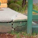 broken walkways - not the only damaged walkway.