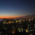 Pôr do sol em Buenos Aires. Vista do apartamento - andar Nº 27