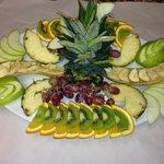 Fresh fruit decoration