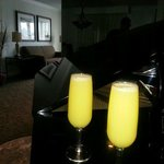Mimosas in the morning to top of a wonderful evening at the Embassy Suites priceless