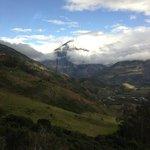 View from the hotel of Tungurahua Volcano