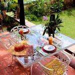 Cattleyas y desayuno