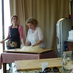 Making pici pasta with Isabella and Carlotta