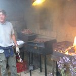 Carlo grilling for the Thursday family/guest dinner