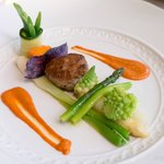 Lamb Hamburger with Red Curry and Vegetables Mayonnaise