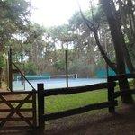 cancha de tenis  . Parque