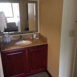 Basin is in room not in bathroom
