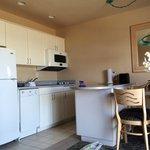 Kitchen area - fully stocked