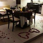 In-room Romantic Dinner Arrangment