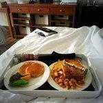 ordered breakfast