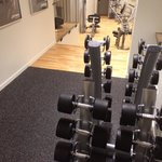 Strength equipment viewed from top level. Everything unused was in immaculate condition.