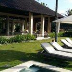 Villa Ambar view back from pool