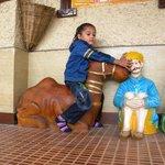 Dhyaan Enjoying on Camel
