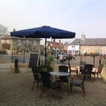 lovely terrace to enjoy a coffee or a glass of wine at Cafe 46
