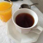 Breakfast - Tea and orange Juice