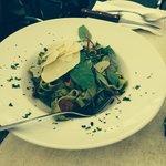 Tagliatelle Pesto e Pancetta