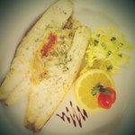 Pan Fried Sea Bass.