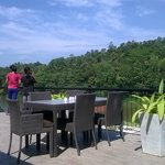 The Deck attached to the dining with the view of the Mahaweli river & the forest