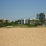View of apartments from the beach