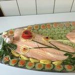 Saumon frais en belle vue / Fresh salmon belle vue style