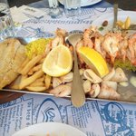 Fish, prawns, calamari and mussels plate - enough for two people - Starboard Platter I think