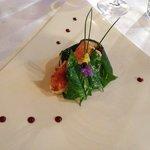 Langoustine et legumes du potager