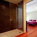 Algemeen zicht van een Luxe kamer met badkamer
