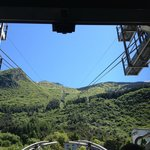Cable car view, going up