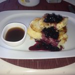 The totally wicked blueberry French toast for breakfast. We both became addicted...