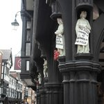 Ed pointed out various features of Chester's many old buildings