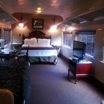 room on the train car
