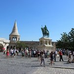 St. Stephen Statue and Fisherman's Bastion, Budapest, August 2013
