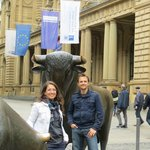In front of the Frankfurt Stock Exchange