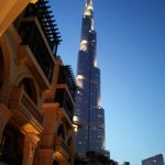 View of Burj in evening