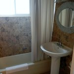 large ocean view room bathroom