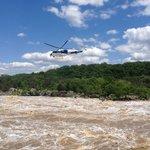 Eagle 1, river at flood stage.