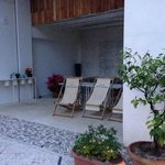 Angolo relax in cortile