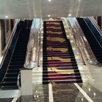 Escalators all the way up to the lobby