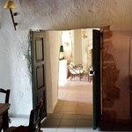 Front door, through kitchen to living area
