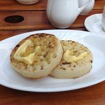 the delicious crumpets we had!