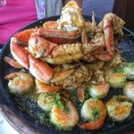 Double Dungeness Crab and Shrimp Roasted Skillet