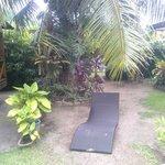 jardin avec transat