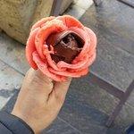 Chilli chocolate ice cream and strawberry chocolate